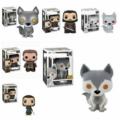 POP Action Figure Vinyl Dolls Game of Thrones 8 Rob Stark Grey Wind Arya Nymeria