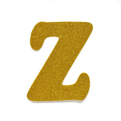 "EVA Glitter Foam Letter Cut Out ""Z"", Gold, 4-1/2-Inch, 12-Count"