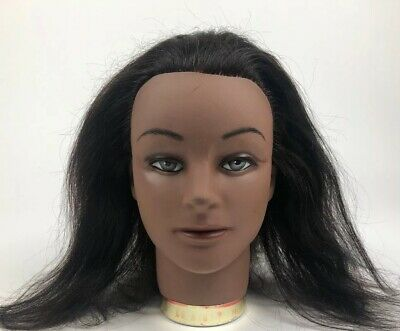 Marianna- Women Manikin Head, Brunette Human Hair
