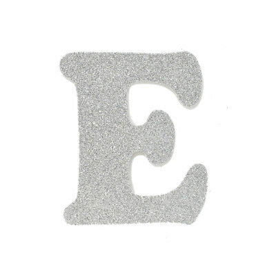 "EVA Glitter Foam Letter Cut Out ""E"", Silver, 4-1/2-Inch, 12-Count"