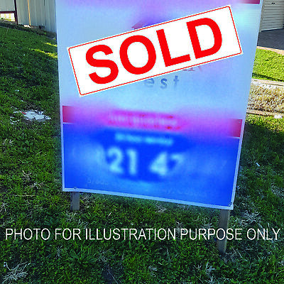 24 x Real Estate Sold Signs 400 mm x 130mm Weatherproof