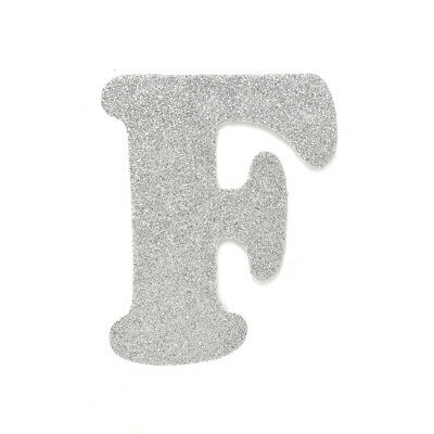 "EVA Glitter Foam Letter Cut Out ""F"", Silver, 4-1/2-Inch, 12-Count"