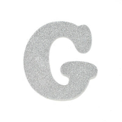 "EVA Glitter Foam Letter Cut Out ""G"", Silver, 4-1/2-Inch, 12-Count"