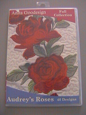 Anita Goodesign Machine Embroidery Audrey's Roses Full Collection 40 Designs