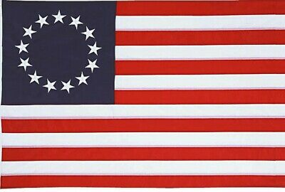 3x5 FT POLYESTER US AMERICAN BETSY ROSS 13 STAR USA HISTORIC FLAG ROUGH TEX ®