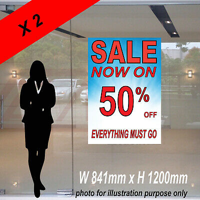2 x Sale Now On Poster Banner Sign Width 841 mm x Height 1200 mm