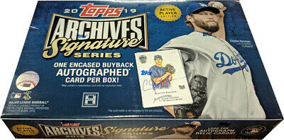 Topps 2019 Archives Signature Series Active Player Edition Baseball Hobby Box