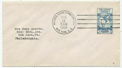 Timbre Stamp Zegel Usa Fdc Etats-Unis Mondial Stamp Exibition New York 1934