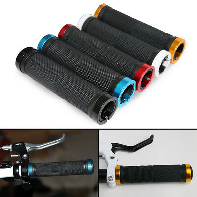 2x Handlebar Grips Soft Rubber Durable Bicycle Double Lock on Locking BMX MTB US Handlebar Grips, Tape & Pads