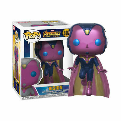 Funko POP VISION Marvel Series Avengers Infinity War 307 Vinyl Figure Toy Doll
