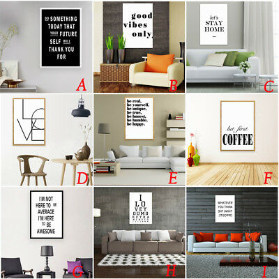 Modern Nordic Life Letter Style Canvas Art Poster Print Wall Picture Home Decor