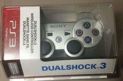 Sony Playstation 3/PS3 Wireless Dualshock 3 Controller Satin Silver 98051 EB35