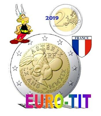 2  Euro  France  Asterix  2  Euro   France   2019   Neuves    2019    Disponible