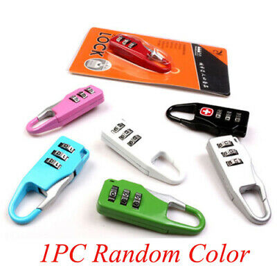 Useful Metal Locks 3 Digit Mini Code Combination Travel Luggage Lock Password