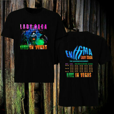 hot Lady Gaga T-Shirt Live In Las Vegas Residency Enigma 2018-2019 all size