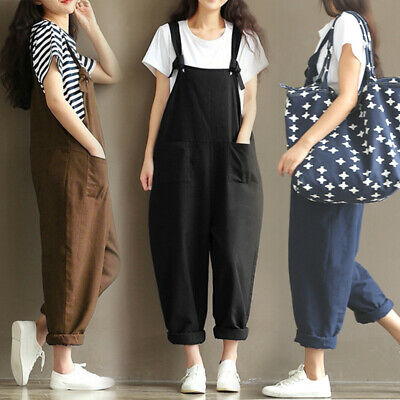 Women Loose Jumpsuit Ladies Oversize Baggy Overalls Strappy Dungarees Fashion UK