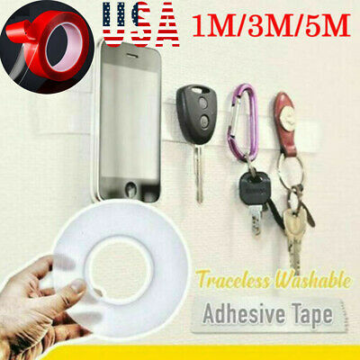 Strong Magic Tape Washable Adhesive Tape Double-side Nano Invisible Gel Tape Hot