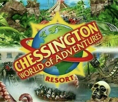 2 x Chessington World of Adventures E-Tickets SATURDAY 7TH SEPTEMBER