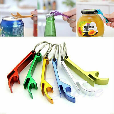 3x Keychain Metal Bottle Opener Keyring Metal Beer Bar Tool Claw Practical Tool