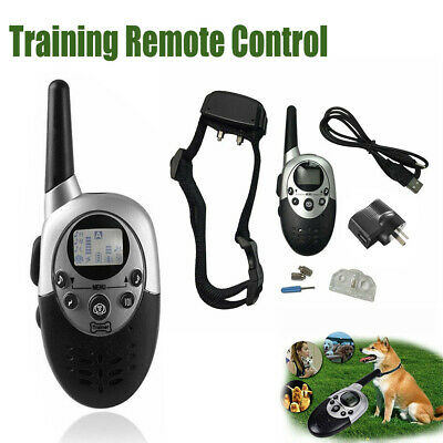 Anti-Bark-Electric-Shock-E-Collar-Training-Remote-Control-Rechargeable-Dog