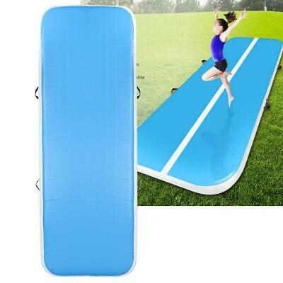 Inflatable Gymnastics Tumbling Gym Mat Air Track Floor Exercise Mats 3x1M W/Pump
