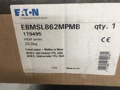 Eaton Memshield 3 EBMSL862MPMB Smart Metered Board TPN 8+6W  200A New