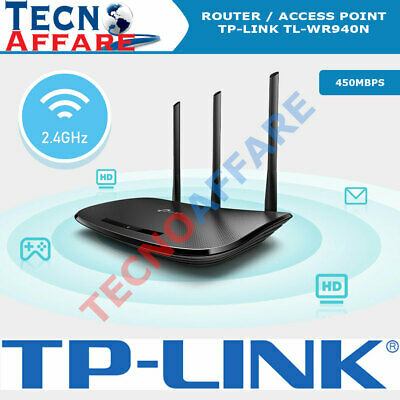 Router Wireless WiFi 450Mbps 4 Porte LAN 1 Wan Access point TP-LINK TL-WR940N