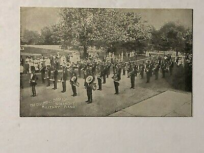 Early 1900's Columbus Ohio Dispatch Newspaper Newsboy's Military Band Postcard