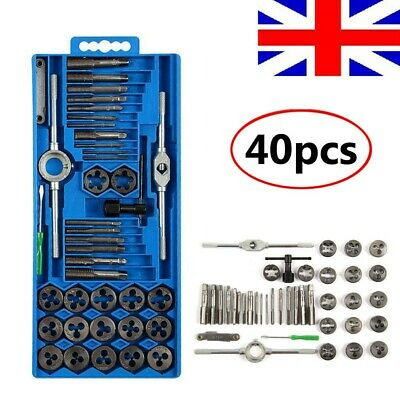 Metric Tap And Die Set Cuts M3 - M12 Thread Kit Wrench with Case Engineers Set