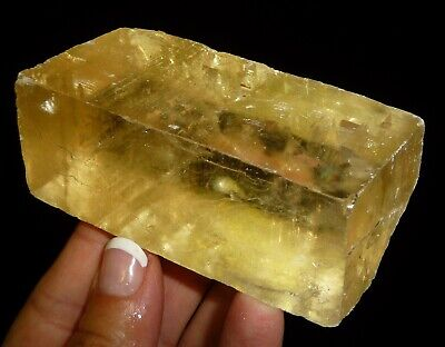 Dino: XL Citrine Optical Calcite Crystal, Mexico - 212 gr.