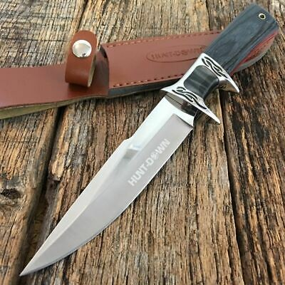 "11.75"" HUNTDOWN Hunting Camping Fishing Survival Knife New Sheath Military 9107"