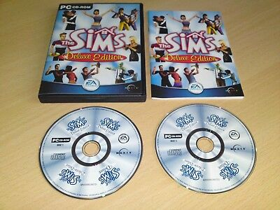 The Sims Deluxe Edition PC CD (UK VERSION) Real Life Sim / Managerial Strategy