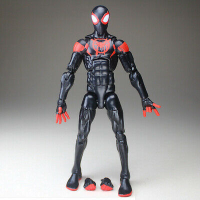 "Marvel Legend Into the Spiderverse Spiderman Miles Custom 6"" Loose Action Figure"