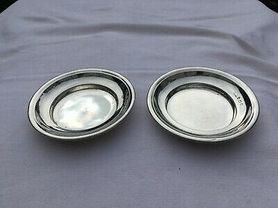 A Pair Of Edwardian Solid Silver Communion Pattens London 1906