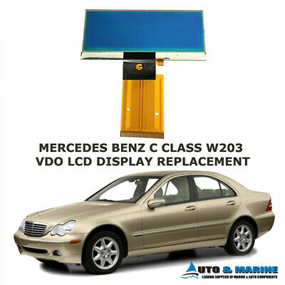 MERCEDES BENZ C CLASS W203 LCD DISPLAY SCREEN & RIBBON 2000 to 2007 NEW