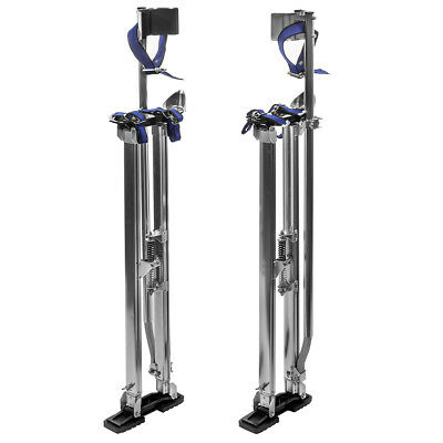 """36"""" - 48"""" Adjustable Aluminum Drywall Stilts Painting Painter Taping Silver"""