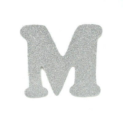 "EVA Glitter Foam Letter Cut Out ""M"", Silver, 4-1/2-Inch, 12-Count"