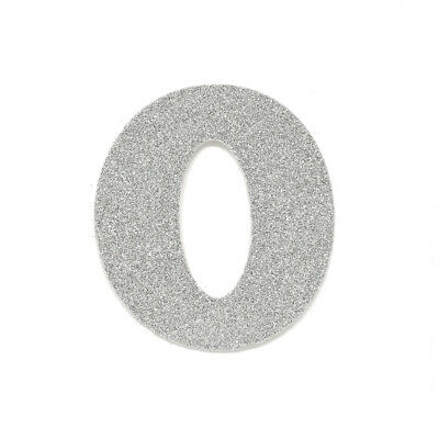 "EVA Glitter Foam Letter Cut Out ""O"", Silver, 4-1/2-Inch, 12-Count"