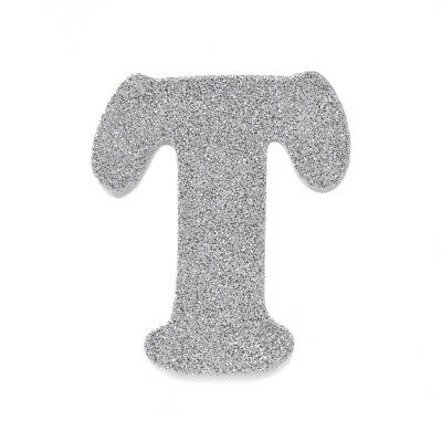 "EVA Glitter Foam Letter Cut Out ""T"", Silver, 4-1/2-Inch, 12-Count"