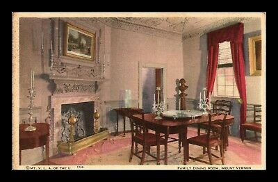 Dr Jim Stamps Us Family Dining Room Mount Vernon Virginia Postcard