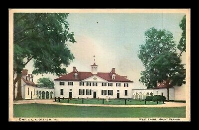 Dr Jim Stamps Us West Front Mount Vernon Virginia Postcard