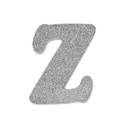 "EVA Glitter Foam Letter Cut Out ""Z"", Silver, 4-1/2-Inch, 12-Count"