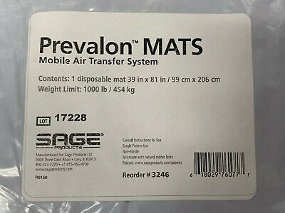 Sage Products Prevalon MATS Mobile Air Transfer System Disposable Mat #3246
