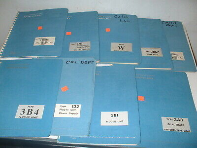 LOT 9PCS Mixed Vintage  Tektronix Type Plug-In Unit Instruction Manual BOX#92