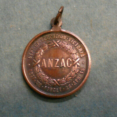 #D350.  1916  Department Of Education  Victoria  Anzac Medal
