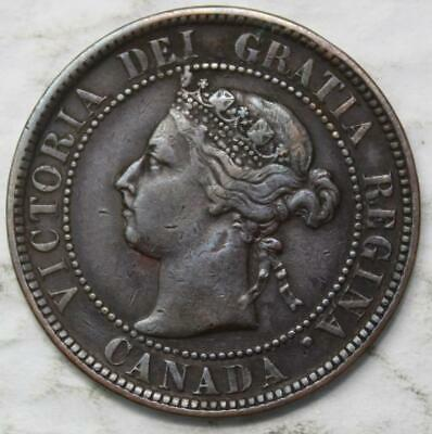 Canada 1900 No H Large Cent, Nice Grade, Key Date Queen Victoria
