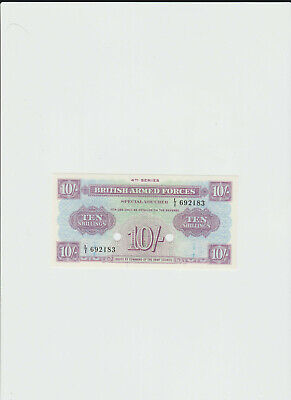 BAF  10  SHILLINGS  4th  SERIES  PUNCH  CANCELLED