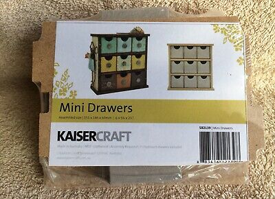 "KaiserCraft MDF Craftwood Mini drawers 6"" x 5 3/4"" x 2 1/4"""