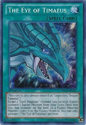 The Eye of Timaeus - DRLG-EN005 - Secret Rare 1st Edition NM Dragons of