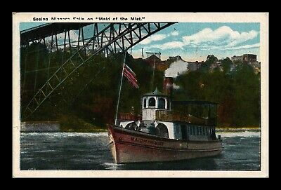 Dr Jim Stamps Us Maid Of The Mist Boat Niagara Falls White Border Postcard